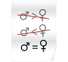 Gender Equality: It's Simple Poster