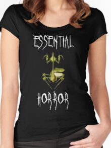 The Essential Horror White Women's Fitted Scoop T-Shirt