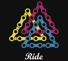Ride / Chain / Solid Color Kids Tee