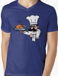 cook chef cuisinier chicken Mens V-Neck T-Shirt