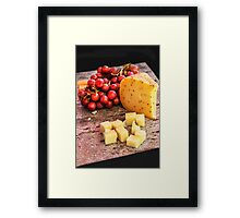 Cheese & Grapes Framed Print