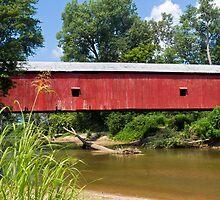 Oakalla Covered Bridge Over Big Walnut Creek by Kenneth Keifer