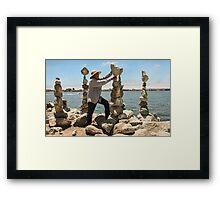 Balancing Act Framed Print