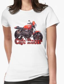 Cafe Racer Motorcycle Womens Fitted T-Shirt
