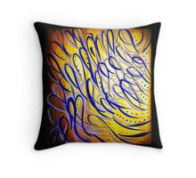 Gold and Blue Dream Throw Pillow