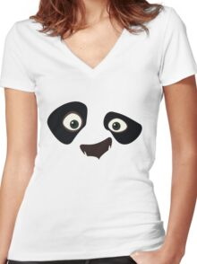 Kung Fu Panda Women's Fitted V-Neck T-Shirt
