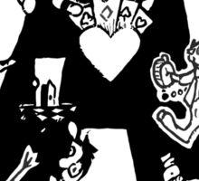 """""""Alice A"""" Black and White Sticker"""