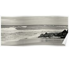 Beach Landscape - B&W Poster