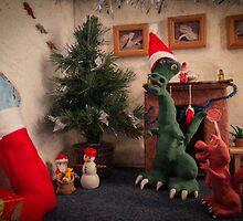 A dinosaur Christmas by Sara Sadler