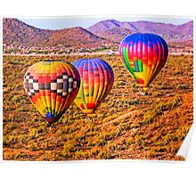 Sonoran Sunrise from a Hot Air Balloon Poster