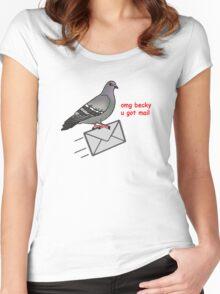 Omg becky u got mail Women's Fitted Scoop T-Shirt