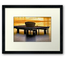 Contemplation jetty Framed Print