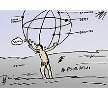 Atlas editorial economics comic Photographic Print
