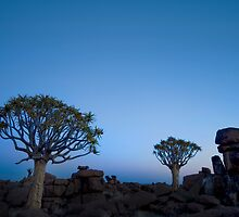 Blue Hour in the Giants Playground - Keetmanshoop Namibia by Beth  Wode