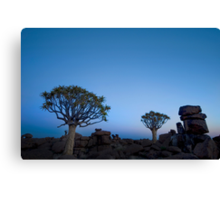 Blue Hour in the Giants Playground - Keetmanshoop Namibia Canvas Print