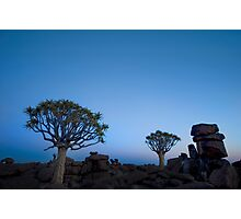 Blue Hour in the Giants Playground - Keetmanshoop Namibia Photographic Print