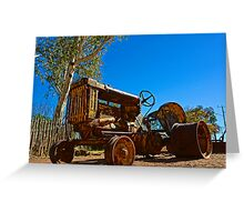 Hermannsburg Tractor Greeting Card
