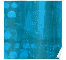 Blue Jeans Dotty Grunge Poster