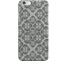 Traditional pattern of Field Scabious flowers iPhone Case/Skin