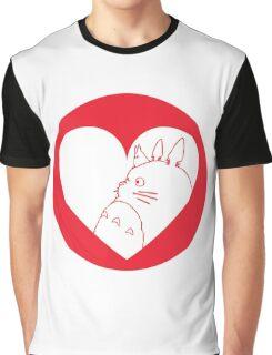 My Neighbour Totoro Heart Graphic T-Shirt