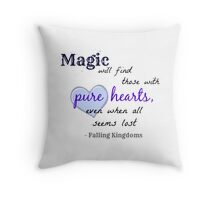 Falling Kingdoms quote Throw Pillow
