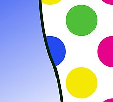 Colorful Polka Dots - Pink Blue Green Yellow by sitnica