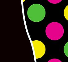 Colorful Polka Dots - Pink Green Yellow Black by sitnica