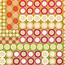 Circles Abstract One by Natalie Kinnear