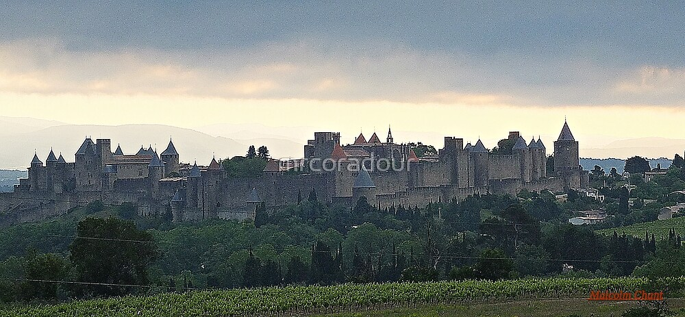 """ Dawn breaks over Carcassonne"" by Malcolm Chant"