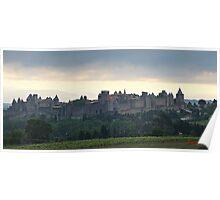 """ Dawn breaks over Carcassonne"" Poster"