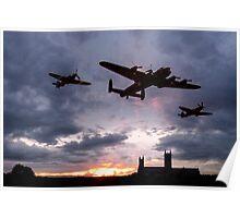 Memorial Sunset Poster