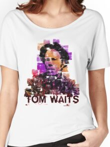 Tom Waits Watercolour Women's Relaxed Fit T-Shirt