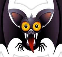 Bat Cartoon Sticker