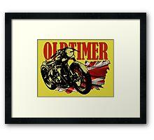 Oldtimer Bobber Framed Print