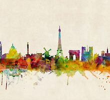 Paris Skyline by ArtPrints