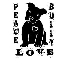 Peace Love Bully - Pit Bull Photographic Print