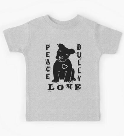 Peace Love Bully - Pit Bull Kids Tee