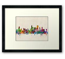 Chicago City Skyline Framed Print