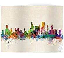 Chicago City Skyline Poster