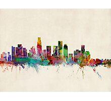 Los Angeles City Skyline Photographic Print