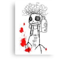 Zombie head on a Robot Body Metal Print
