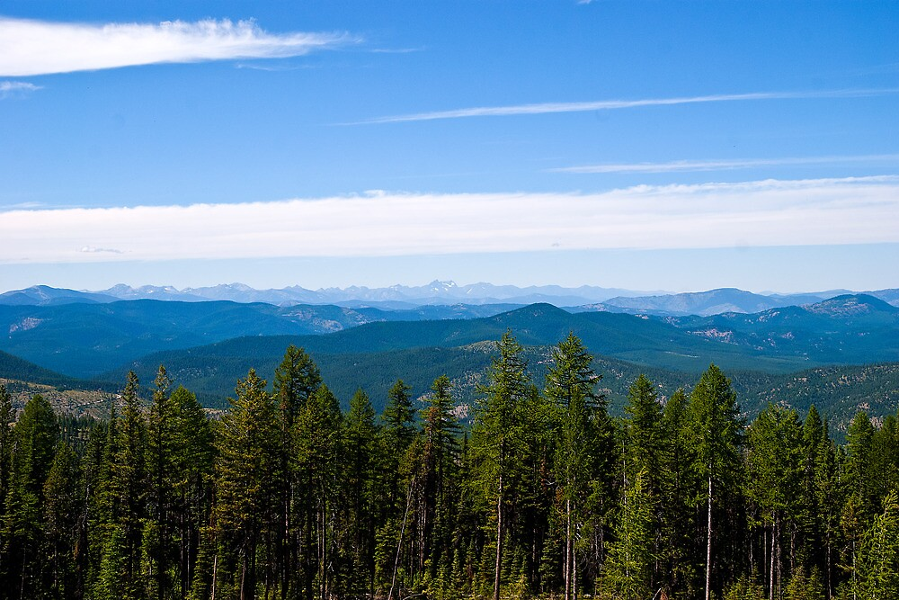 The Cabinet Mountains, Sanders County, Montana by Bryan D. Spellman