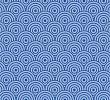 Blue Swirl Pattern by DistilledD