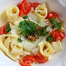 Pappardelle With Kohlrabi And Almond Pesto by SmoothBreeze7
