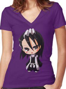Byakuya Chibi Women's Fitted V-Neck T-Shirt