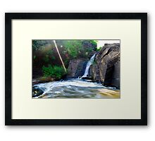 Bhatinda Water Fall In dhanbad Framed Print