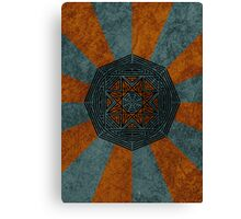 Rising Sun Pattern Canvas Print