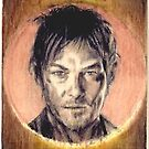 Norman Reedus balsa wood mini by wu-wei