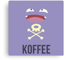 Koffing Koffee (Pokemon) Canvas Print