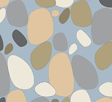 Pebble pattern in grey and blue tones by CClaesonDesign